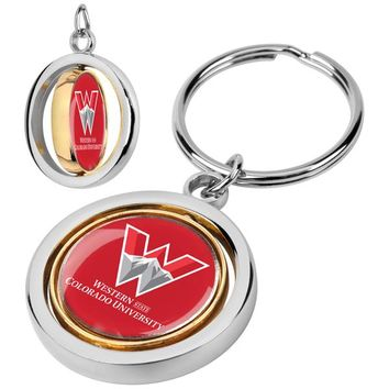 Western State Colorado University Mountaineers Spinner Key Chain
