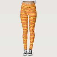 Colorful wavy patterns leggings