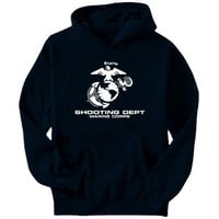 Shooting Dept Marine Corps Sports Mens Hoodie (Navy Blue, Sizes X-Small - XXX-Large)