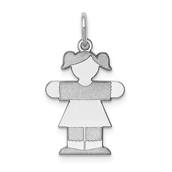 925 Sterling Silver Kid Charm and Pendant