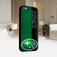 Subaru WRX on a field of simulated Green  - Photo on Hard Cover For Iphone 4 / 4S Case, iPhone 5 Case - Black, White, Clear