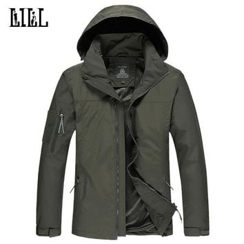 LILL | Waterproof Male Jacket Folding Hat Men Army  Coat Military Style  Windbreaker Thin Camouflage Jackets Hooded,UA224