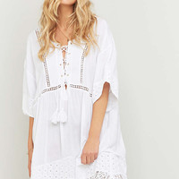 Somedays Lovin Nadin Lace-Up Tunic Midi Dress - Urban Outfitters