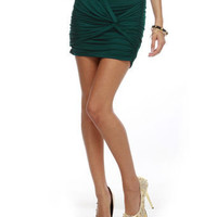 Cute Teal Skirt - Mini Skirt - Twisted Skirt - Blue Skirt - $25.00