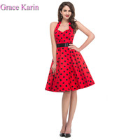 8 model new Summer Grace Karin Retro Vintage Cotton Polka Dots 50s 60s Rock Roll Vintage Lady rockabilly Swing Dresses 4599 Alternative Measures - Brides & Bridesmaids - Wedding, Bridal, Prom, Formal Gown
