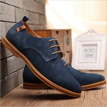New European style 2016 californians male wanderers real and recreational leather Men casual shoes at all levels size 38 -48 [8822144643]