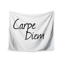 "Oriana Cordero ""Carpe Diem"" Black White Wall Tapestry"