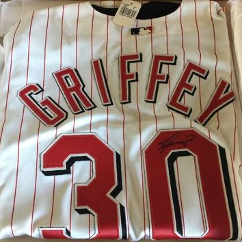 Ken Griffey, Jr. Signed Autographed Cincinnati Reds Baseball Jersey (Upper Deck Authenticated COA)