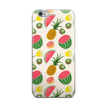 Lemon Grapefruit Kiwifruit Pineapples & Watermelon iPhone 4 4s 5 5s 5C 6 6s 6 Plus 6s Plus 7 & 7 Plus Case