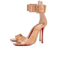 Christian Louboutin Cl Blade Runana Nude Leather 18s Sandals 1181077pk1a - Best Online Sale