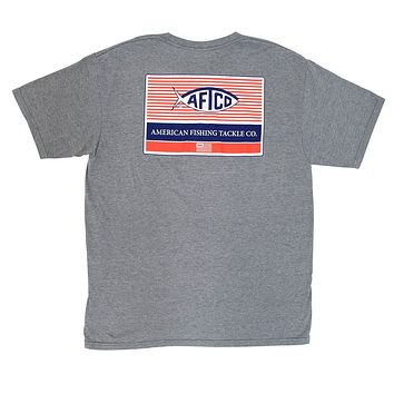 Standard Tee Shirt in Graphite Heather by AFTCO