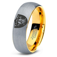 Oakland Raiders Ring Mens Fanatic NFL Sports Football Boys Girls Womens NFL Jewelry Fathers Day Gift Tungsten Carbide 105B