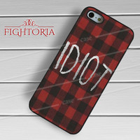 red plaid idiot mikey 5sos-1nay for iPhone 4/4S/5/5S/5C/6/ 6+,samsung S3/S4/S5,S6 Regular,S6 edge,samsung note 3/4