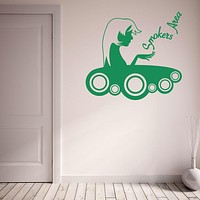 Smokers Area Wall Decal