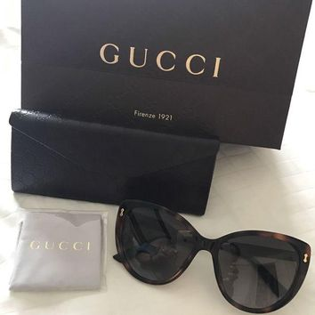 DCCKNY1 Genuine Gucci Oversized Cat eye Women's Sunglasses Brand New