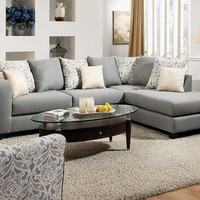 Light Gray Two Piece Couch | Splendor Gray 2 PC. Sectional Sofa