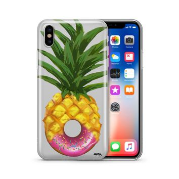Donut Pineapple - Clear TPU Case Cover Phone Case