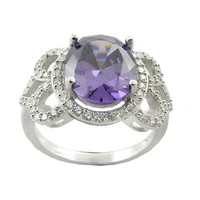 Large Purple Stone Ring