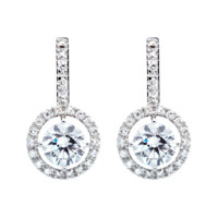Diamond Earrings Classics with Brilliants in White Gold | RenéSim