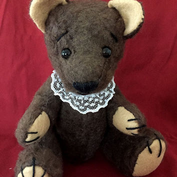 "Teddy ""Chocolate"", handmade teddy bear, own pattern, brown chocolate"