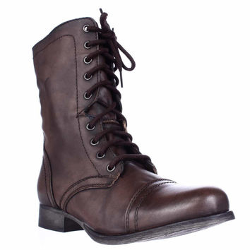 Steve Madden Troopa Combat Boot - Brown