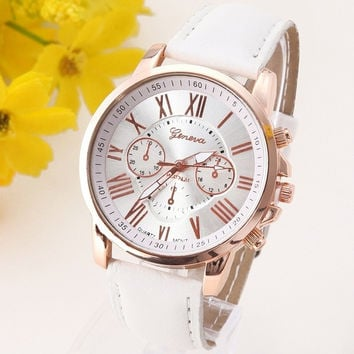 NEW Geneva Platinum Watch Women PU Leather wristwatch casual dress watch reloj ladies relogio gift Analog Quartz Fashion Roman = 1956466564