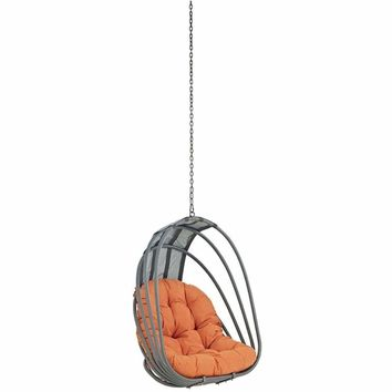 Whisk Outdoor Patio Swing Chair Without Stand, Orange