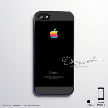 iPhone 5 case, iPhone 5 cover, case for iPhone 5, black shades with rainbow apple logo S359