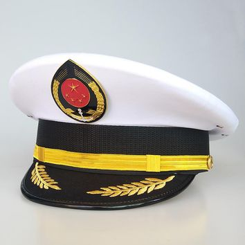 Captain Sailor Military Hat Navy Cap Cosplay Accessories