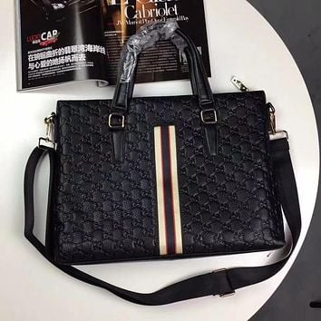 GUCCI MEN'S HOT STYLE LEATHER BRIEFCASE BAG CROSS BODY BAG