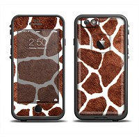The Real Giraffe Animal Print Apple iPhone 6 LifeProof Fre Case Skin Set