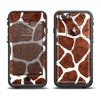 The Real Giraffe Animal Print Apple iPhone 6/6s LifeProof Fre Case Skin Set