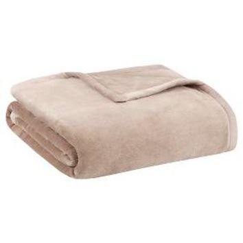 Ultra Premium Plush Blanket (Twin) Tan