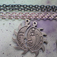Soul Mate Sun and Moon necklaces
