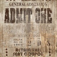 General Admission Canvas Wall Art - Unframed Art - Wall Decor - Home Decor | HomeDecorators.com