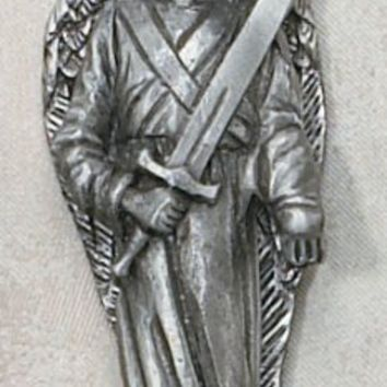 "3"" Pewter St. Michael the Archangel Statue"