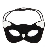 Glitter Kitty Mask by Charlotte Russe - Black