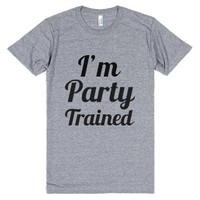 I'm Party Trained-Unisex Athletic Grey T-Shirt