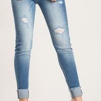 Linda Light Denim Cuffed Jeans