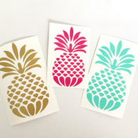 Design Pineapple vinyl decal for Flasks and tumblers