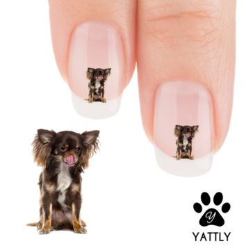 "Chihuahua ""It's yummy yum!"" Nail Art Decals ( NOW 50% MORE FREE)"