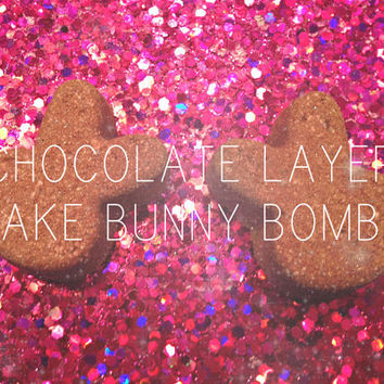 Chocolate Layer Cake Bunny Bath Bombs, Organic, Vegan