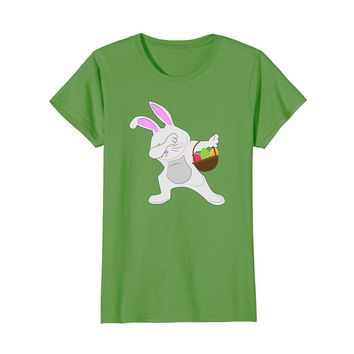 Dabbing Easter Bunny with Eggs and Basket T-Shirt