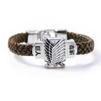 Shingeki no Kyojin Attack On Titan Giant bracelet hand-rope bracelet student long paragraph allen Accessory 2015 NEW