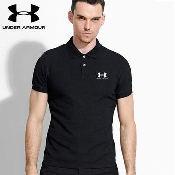 PEAP2Q hot sale under armour mens polo shirt 100 cotton top