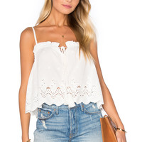 Lost in Lunar Sunset Crochet Top in White