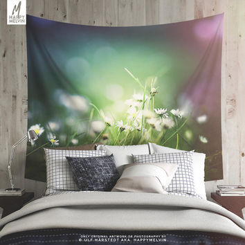 Colorful Floral Tapestry, Flower Wall Tapestry, Summer Wall Tapestry, Floral Wall Decor, Flower Wall Tapestry, Dorm Decor, Gift, Wall Art