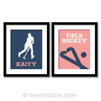 Girl's Field Hockey Love Wall Art - Choose Any Colors - twenty3stars