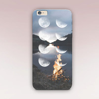 Moon Phases Phone Case For - iPhone 6 Case - iPhone 5 Case - iPhone 4 Case - Samsung S4 Case - iPhone 5C - Tough Case - Matte Case - Samsung