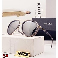 PRADA New Stylish Women Simple Sun Shades Eyeglasses Glasses Sunglasses 5# Grey
